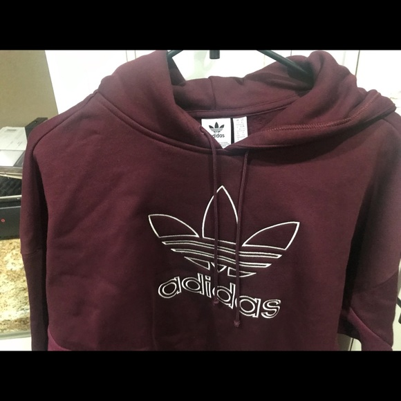 adidas Tops - Adidas new logo cropped sweater size XL
